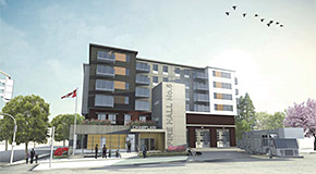 Rendering of the proposed replacement Fire Hall 5 building