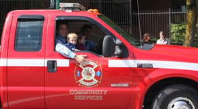 Fire and Rescue Community Services truck