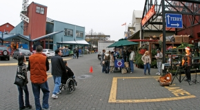 Walking on Granville Island, Vancouver, BC