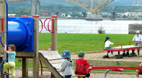 Children in a Vancouver playground
