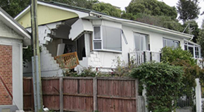 House damaged by the Christchurch, New Zealand, earthquake in 2011