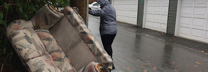 Report witnessed illegal dumping on City property
