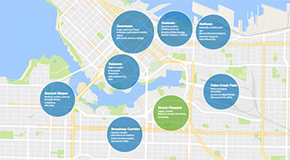 Vancouver innovation economy map