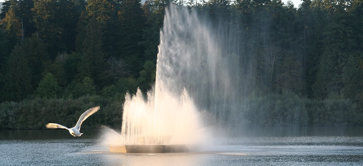 The Jubilee Fountain in Lost Lagoon