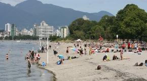 Kitsilano Beach in Vancouver