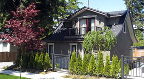 A 1½ floor, 643 square foot laneway house on a 44 foot wide property