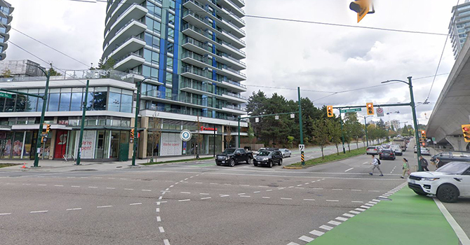 Marine Dr and Cambie St intersection