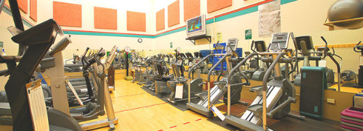 Cardio machines at Marpole-Oakridge fitness centre in Vancouver