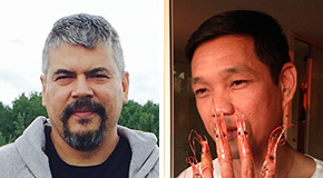 Brian Jungen (left) and Ron Tran (right), 2015 Mayor's Arts Award for Visual Arts honouree and emerging artist, respectively
