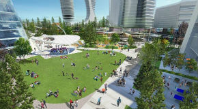 Rendering of Oakridge Park on the roof of Oakridge Mall
