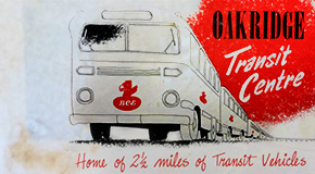 1952 brochure of the Oakridge Transit Centre