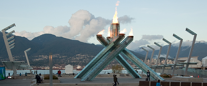Vancouver 2010 Olympic Winter Games Cauldron at Jack Poole Plaza