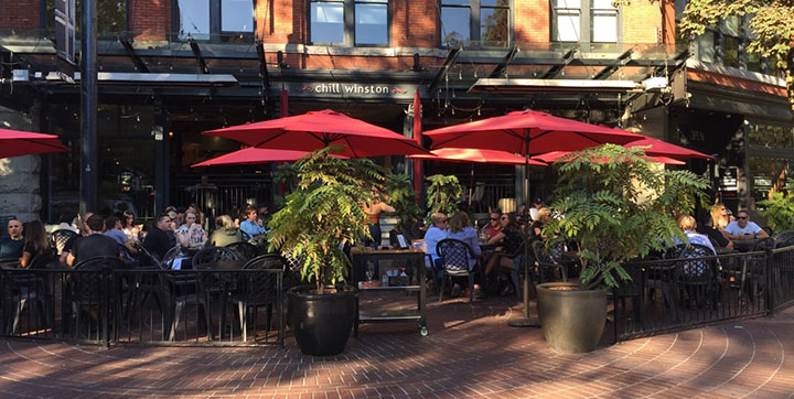 Restaurant patio in Gastown
