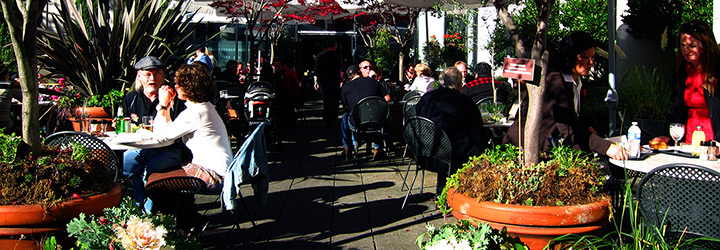 People on patio
