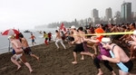 Polar Bear Swim at English Bay Beach in Vancouver