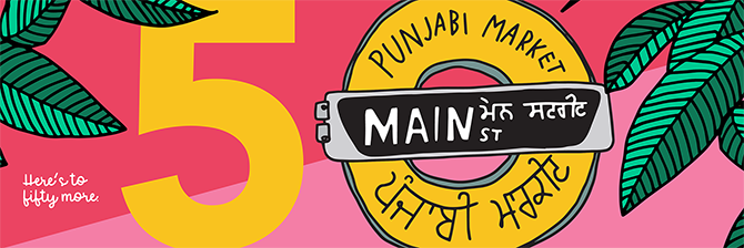 Punjabi Market 50th anniversary graphic