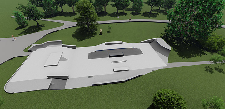 Rendering of Quilchena skateboard park