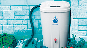 Rain barrels collect rainwater to use when you water your lawn and garden