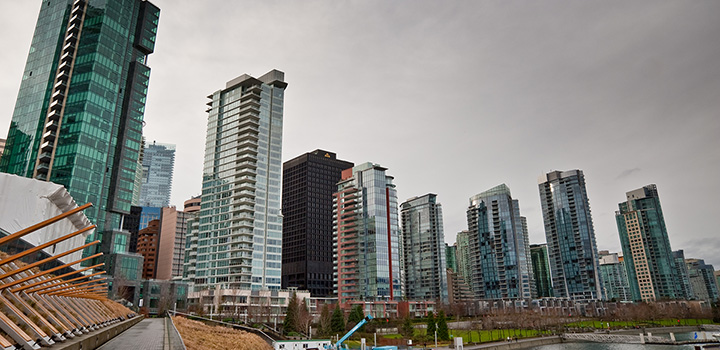 Buildings in downtown Vancouver