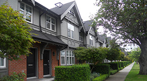 Rowhouses in Vancouver
