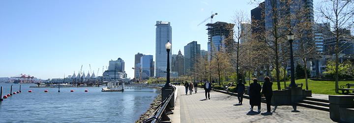 Seawall in Vancouver in Coal Harbour