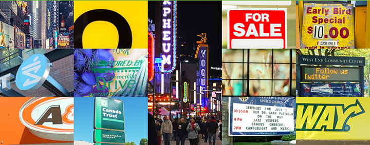 Collage of signs