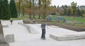 Quilchena Skateboard Park in Vancouver
