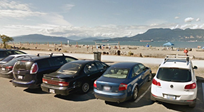 Spanish Banks parking lot