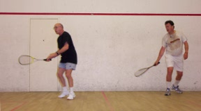Playing squash in Vancouver
