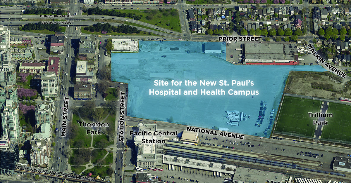 The New St Pauls Hospital And Health Campus Planning Program - Us bank energy park st paul maps