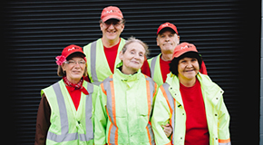 Street cleaning workers group photo