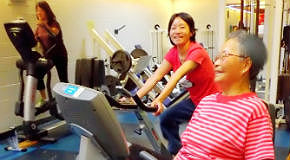 Cardio machines at Templeton Park Pool Fitness Centre in Vancouver