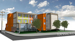 Artist's rendering of the temporary modular homes by Horizon North