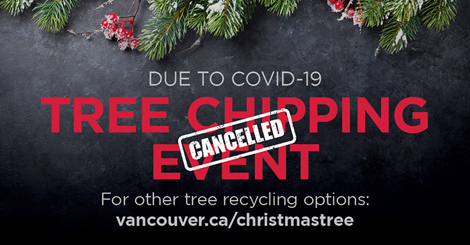 Tree chipping event cancelled