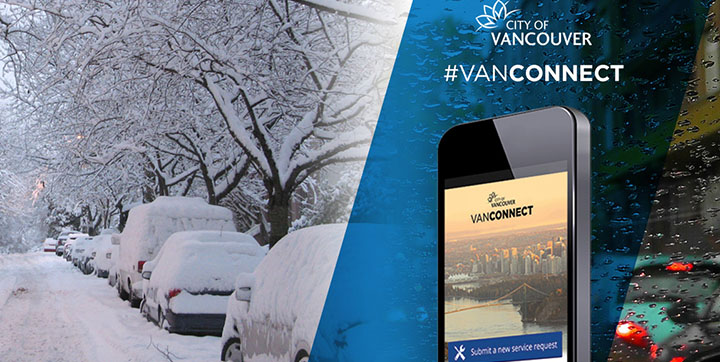 Report snow with VanConnect