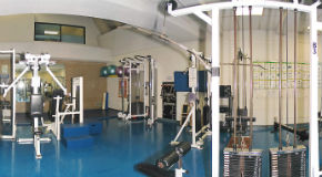 Weight machines at Vancouver Aquatic fitness centre