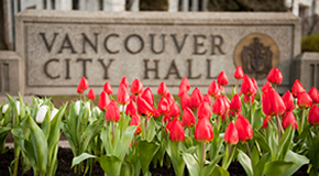 Vancouver City Hall sign