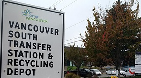 Vancouver South Transfer Station sign