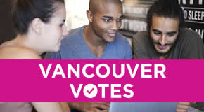 Vancouver Votes - people at computer