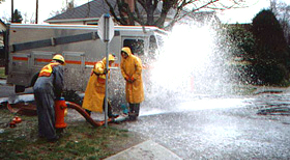 Water main flushing helps to maintain the high quality of Vancouver's water.
