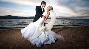 Wedding couple on Vancouver beach