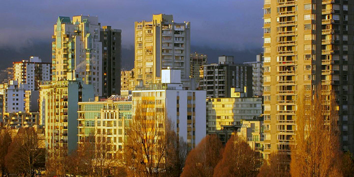 Apartments in the Vancouver's West End
