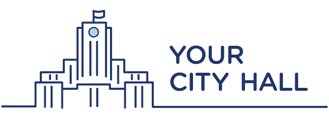 Graphic of City Hall with words Your City Hall