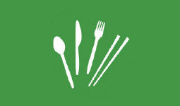 Graphic of single-use utensils