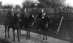 Mounted police in Stanley Park circa 1905