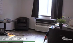 View of an accessible unit in a modular home
