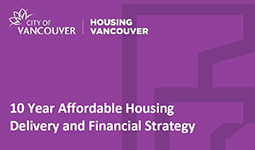 10 Year affordable housing delivery and financial strategy cover