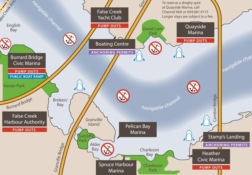 False Creek anchoring map