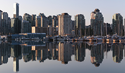 Boats docked in Coal Harbour