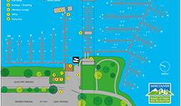 Map of Burrard Civic Marina